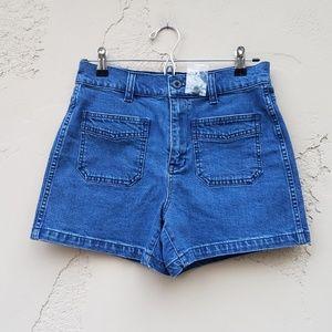 NWOT Madewell Blue High Rise Denim Shorts Size 27